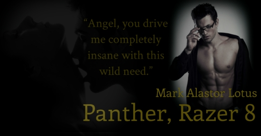 """Panther is the lead operative on the Razer 8 team. His harsh childhood shaped him into a tough, reserved, and solitary man. He mastered controlling his emotions, physical endurance, and fate. Tabitha Sparks is a sweet beautiful young author, full of life and dreams. She writes a #1 bestseller: a thriller, with suspense, and organized crime. The book triggers the Russian mafia's rage. They contact an assassin. Tabitha is oblivious to the threat to her life and continues her work. Panther's mission is to save her life, while endangering his controlled balance. Will he fall under her spell and open his soul?  """"I want to know everything. I want to be able to control what's going down. I won't allow anyone or anything to control my life. I need to learn my environment, position, and fate. That's the only way to survive and to be first."""" Panther, Razer 8 US -  http://www.amazon.com/dp/B00IFUXB44 UK - http://www.amazon.co.uk/Panther-Razer-8-P-T-Macias-ebook/dp/B00IFUXB44/ref=la_B008B0EYWQ_1_26?s=books&ie=UTF8&qid=1392355419&sr=1-26 https://www.smashwords.com/books/view/417840 http://www.barnesandnoble.com/w/panther-razer-8-pt-macias/1118904288?ean=2940045758727 https://itunes.apple.com/us/book/panther-razer-8/id839276482?mt=11"""